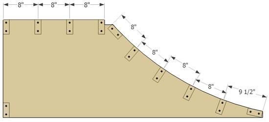 Quarter Pipe Framing - How to Make a Micro Quarter Pipe