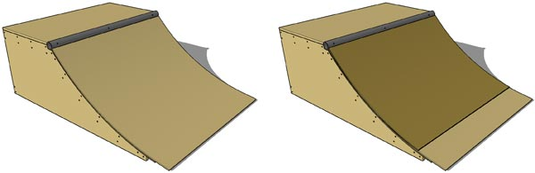 Quarter Pipe Middle Layer and Masonite