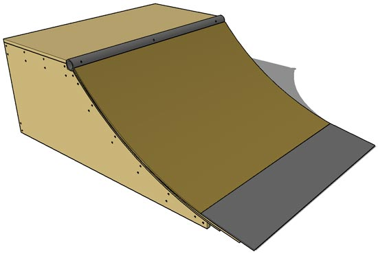 Finished Quarter Pipe